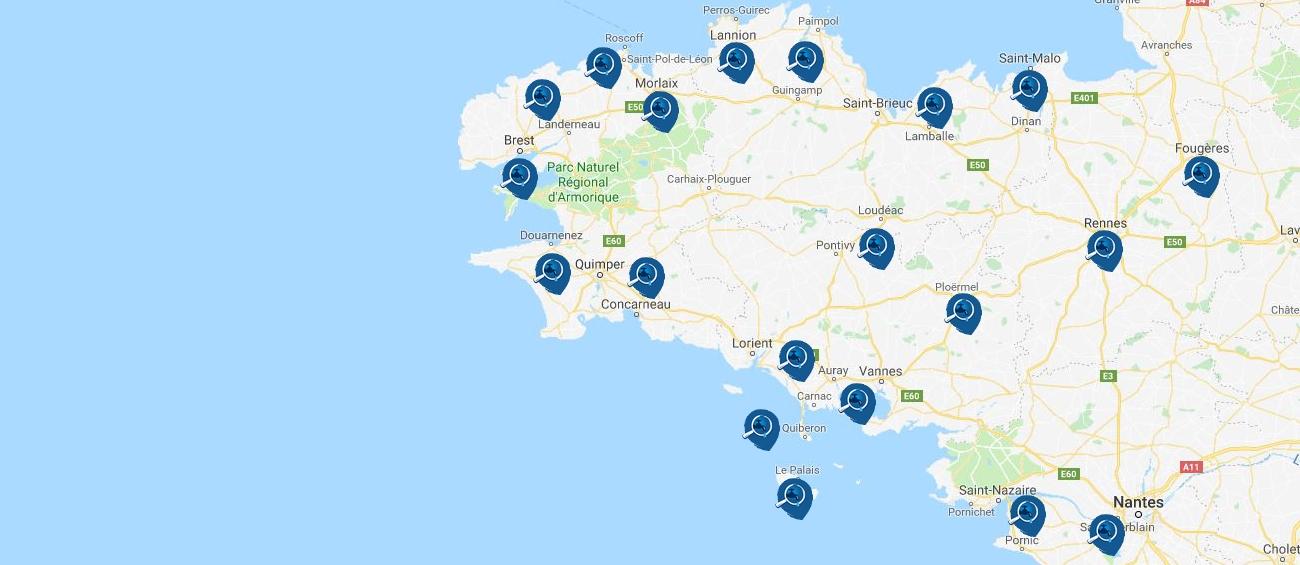zone d'intervention Bretagne Fuites et Détections