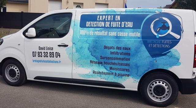 véhicule intervention fuite d'eau Bretagne