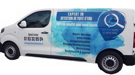 véhicule intervention pour la détection de fuites d'eau